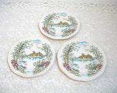 """Alfred Meakin English Staffordshire Queens Castle 6 1/2"""" Plates"""
