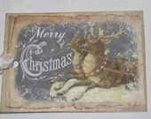 Christmas Tags, Chalkboard Tags, Reindeer Christmas Tags, Merry Christmas Gift Tags