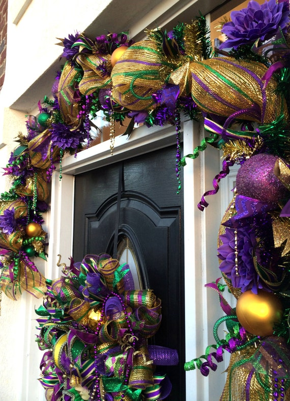Video how to make a deco mesh mardi gras garland full