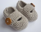 Knitting Pattern Baby Shoes with chunky strap  KEELAN Immediate Download