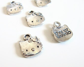 Hello Kitty Charms - Silver