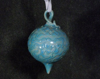 Christmas ornament, ceramic, one of a kind