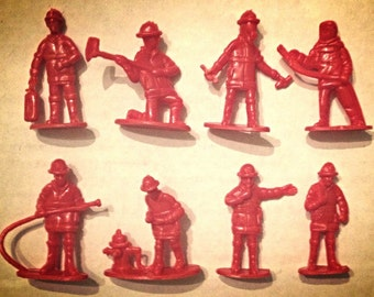 8- Piece 1970 Firemen Set from Hudson's Department Store