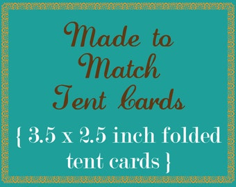 Made To Match Folded Tent Card 3.5 x 2.5 folded