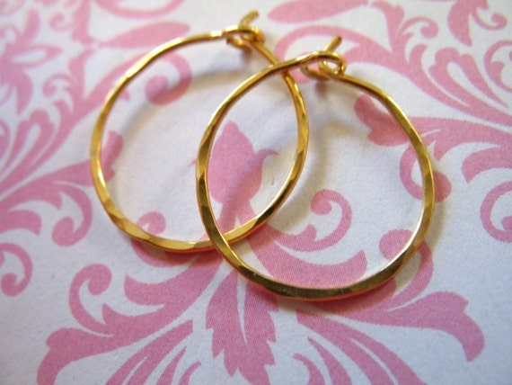 "Shop Sale.. 5 pairs, 24k Gold Vermeil HAMMERED HOOPS Earrings Earwires, 1.5"" inch, 1 1/2, organic artisan add a dangle ihm.h"