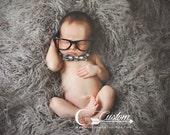 CLEARANCE-Ash Gray Long Sheep Faux Flokati Basket Stuffer Fur Newborn Photo Props, Artificial Fur, Newborn Baby Photography Props, Baby Boy