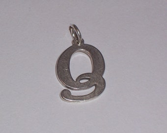 Vintage Sterling Silver Initial Q Charm
