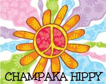 CHAMPAKA HIPPY Scented Soy Wax Melts - Earthy - Patchouli - Soy Wax Tarts - Flameless Wickless Soy Candle - Highly Scented - Handmade In USA