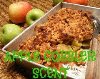 APPLE CoBBLER SCENTED Soy Wax Melts - Dessert Scent - Soy Wax Candle Tarts - Hand Poured - Highly Scented - Handmade In USA