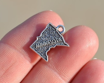 5 Silver State of Minnesota Charms SC5254