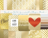 Good As Gold Printable, digital paper & project life cards