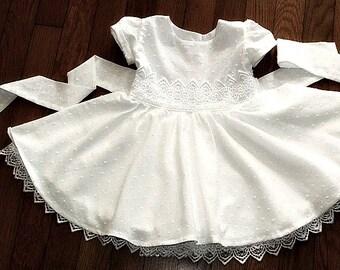 Christening wedding flower girl birthday dress baby girl