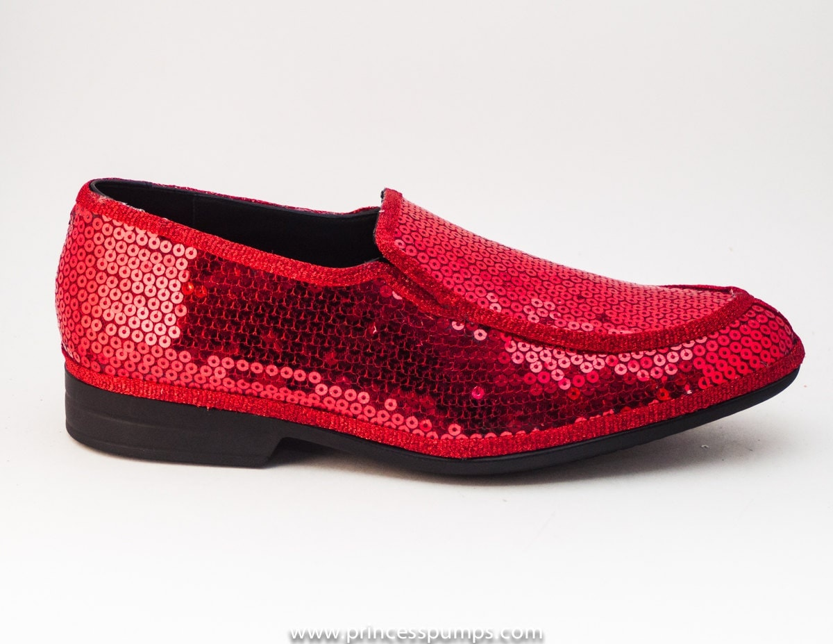 sequin metro leather loafer dress slip on shoes