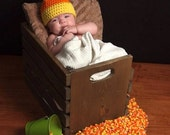 Candy Corn Hat, Newborn to 3 Months, 3 to 6 Months, 6 to 12 Months, Photo Prop, Halloween