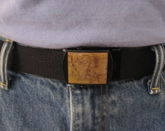 Map Of Middle Earth Belt and Buckle Adjustable Size