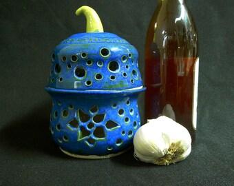 Royal Blue Garlic Keeper/Luminary