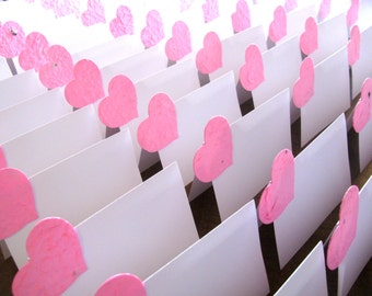 Plantable Seed Paper Valentine's Day Wedding Favors - Pink Plantable Wedding Favors - Seed Paper