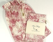 Shoe Bag, Toile, Red, Set of 2, Travel Accessories, Lingerie, Drawstring bags