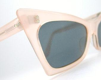 Vintage Cat Eye Pink Pearl Sunglasses France