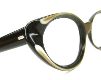 Vintage cat Eye Glasses Eyeglasses or Sunglasses Frame France