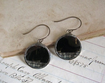 Movie Film Earrings Glass Soldered Jewelry Industrial