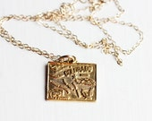 Gold State Charm Necklace - Colorado