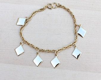Gold Squares Chain Bracelet
