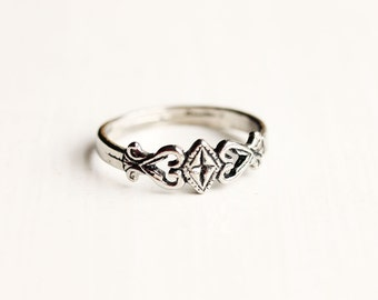 Silver Diamond Band Ring