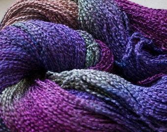 Lark, Hand-dyed Fine Rayon Boucle Yarn, 300 yds - Vineyard