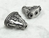 Pair of Bali Solid Sterling Silver Multi-Strand End Caps - Package 105