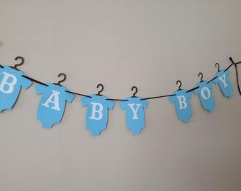 Baby Boy Baby Shower Banner -  Style