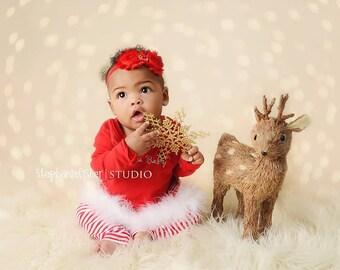 Christmas Headband - Baby Headband - Red Headband, Holiday Headband, Shabby Chi Baby Girl Headband, Photography Prop, Christmas Ph