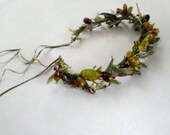 Leafy Hair Wreath Flower Crown Mystique Forest fruit of the earth Celtic Headdress artificial Goddess accessories bridal headpiece vine halo