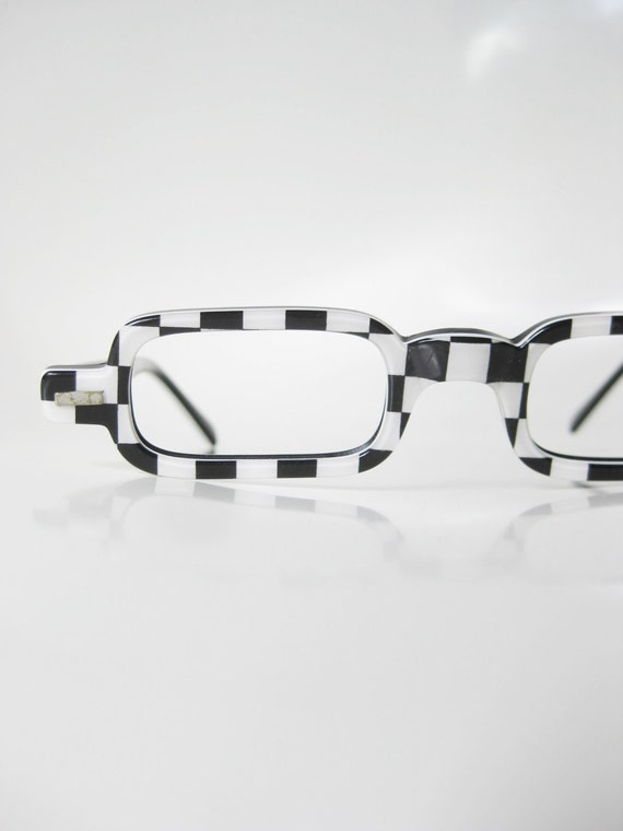 Vintage 1960s Checkboard Reading Glasses Half by ...