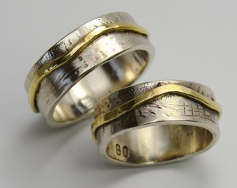 Wedding Ring 14K Gold Ring Handmade Wild Prairie Silver Jewelry Joy Kruse