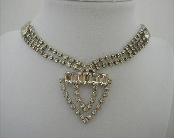 Crystal Rhinestone Bridal Festoon Necklace
