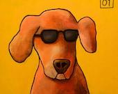"""204 Dog – print 38x38cm/15x15"""""""