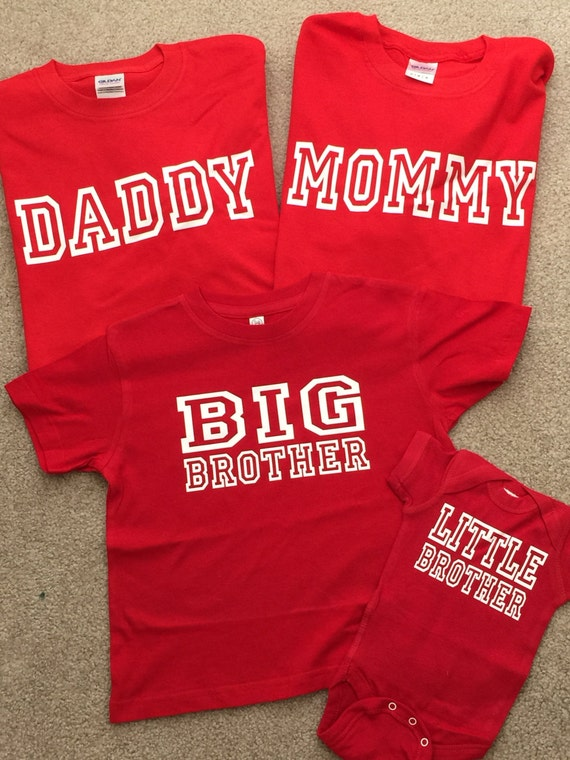 Cool T Shirt Set For Big Brother Little Brother Mom And Dad