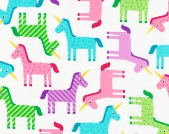 Robert Kaufman Fabric Ann Kelle Wonder Unicorns Sweet, Choose your cut