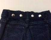Elastic Toddler Belt - Elastic Belt - Kid Belt - Cinch Belt - Navy