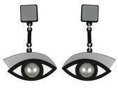 In the Blink of an Eye earrings in silver acrylic
