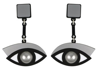 In the Blink of an Eye earrings in silver acrylic
