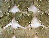Ceramic Christmas Ornament - Botanical Tree Decoration - Handmade Fossil Fern Tree Ornament - Sent in Gift Box