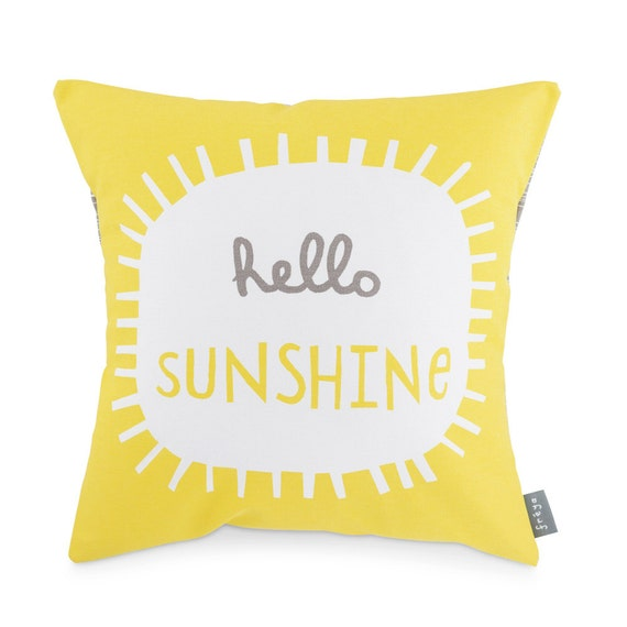 Hello Sunshine Cushion by Freya Art