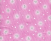 Pink with Sparkly Stars 100% Cotton Fabric