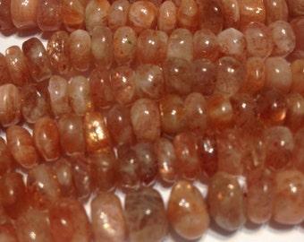 Big Oregon Sunstone Smooth rondells whole strand Quality stones