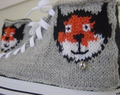 Custom Cat Portrait Knit Chucks