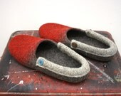 "Hovei joy"" Felted wool slippers ready to ship in women's size EU 37,5"