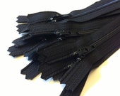 Black dress, all-purpose YKK zippers, 10 pcs, choose size, 4, 5, 6, 7, 8, 9, 10, 12, 14, 16, 18 inches, YKK color # 580