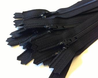 Black dress, all-purpose YKK zippers, 10 pcs, choose size, 4, 5, 6, 7, 8, 9, 10, 12, 14, 16, 18 inches, YKK color # 580